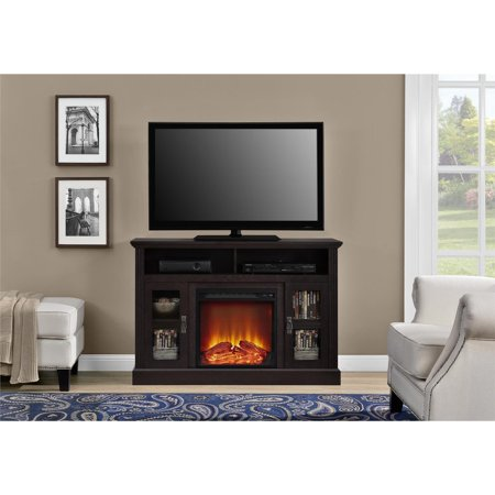 Oak 52 Tv Console (Ameriwood Home Chicago Electric Fireplace TV Console for TVs up to a 50