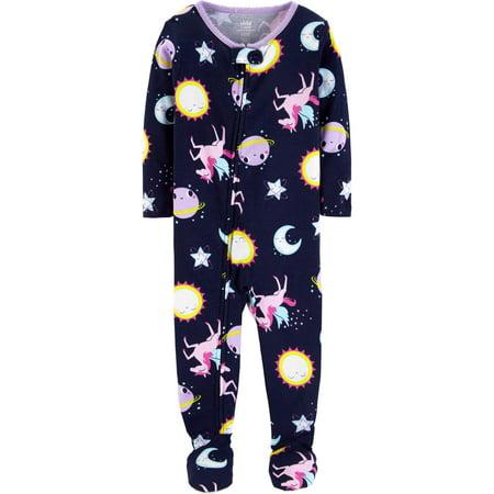 Microfleece Cotton Footed Blanket Sleeper (Baby Girls & Toddler Girls)