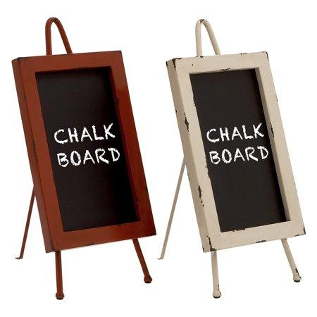 Decmode Metal And Wood Chalkboard Multi Color Walmart Com