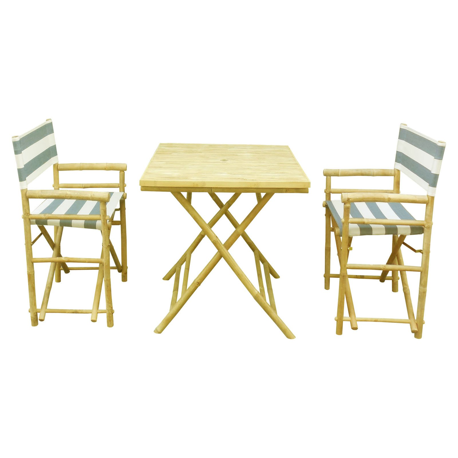 Phat Tommy Foldable 3 Piece Square Patio Bistro Set