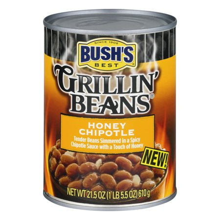 (6 Pack) BUSH'S BEST Grillin' Beans Honey Chipotle, 21.5 (Best Bush Green Beans To Grow)