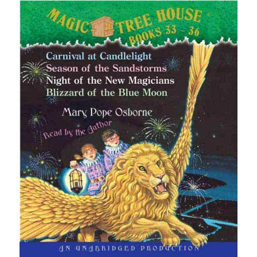 Magic Tree House Books 33-36: Carnival at Candlelight/Season of the Sandstorms/Night of the New Magicians/Blizzard of the Blue Moon