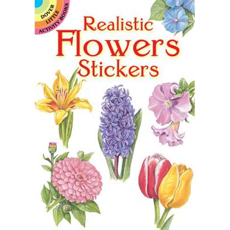 Realistic Flowers Stickers (Paperback)