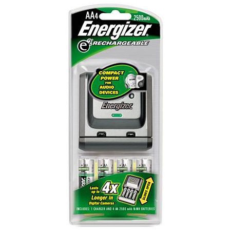 Energizer Sliding Charger & 4 AA Batteries