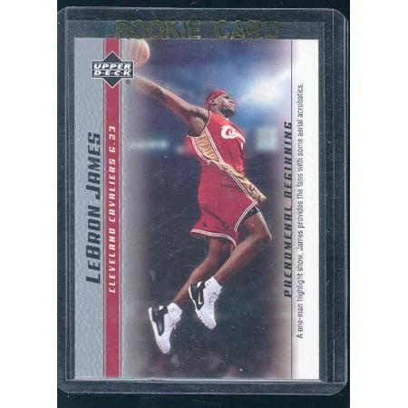 2003 Upper Deck Phenomenal Beginning #13 Lebron James One Man Show Rookie Card
