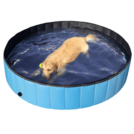 Outdoor Foldable Pet Dog Swimming Pool, Blue, 63\