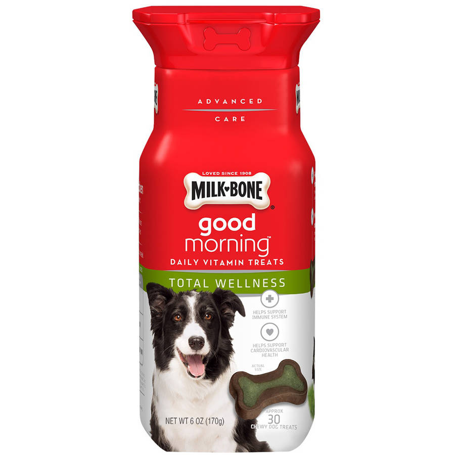 Milk-Bone Good Morning Daily Vitamin Dog Treats, Total Wellness, 6 oz