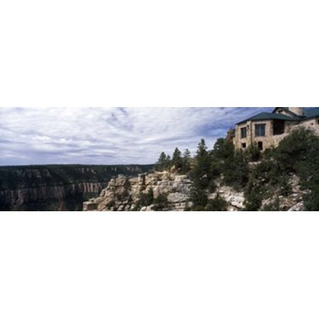 Low angle view of a building Grand Canyon Lodge Bright Angel Point North Rim Grand Canyon National Park Arizona USA Poster