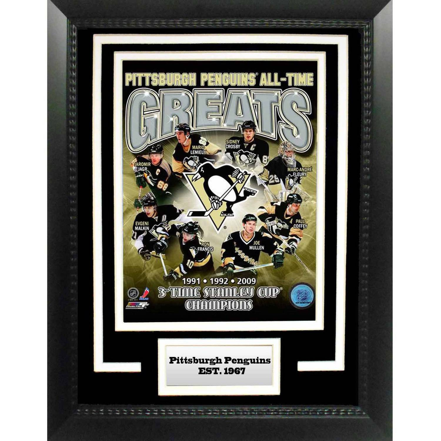 "NHL Pittsburgh Penguins Greats 11"" x 14"" Deluxe Frame"