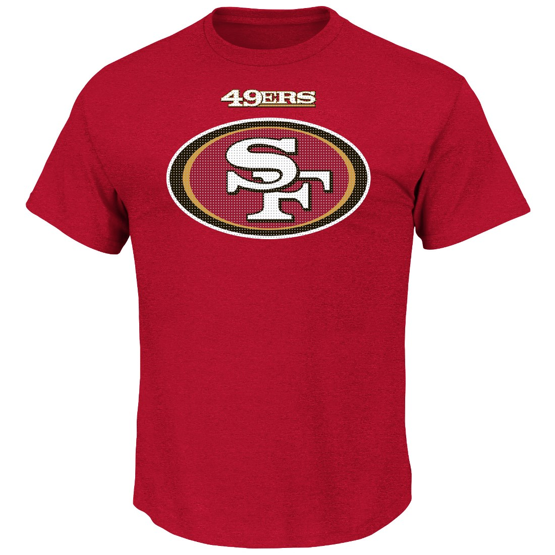 "San Francisco 49ers Majestic NFL ""Critical Victory 2"" Men's T-Shirt - Red"