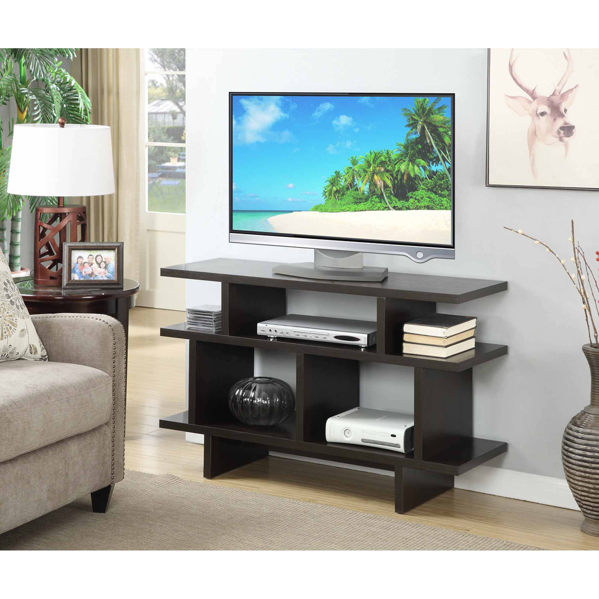 "Convenience Concepts Key West 48"" TV Stand Console, Multiple Colors"