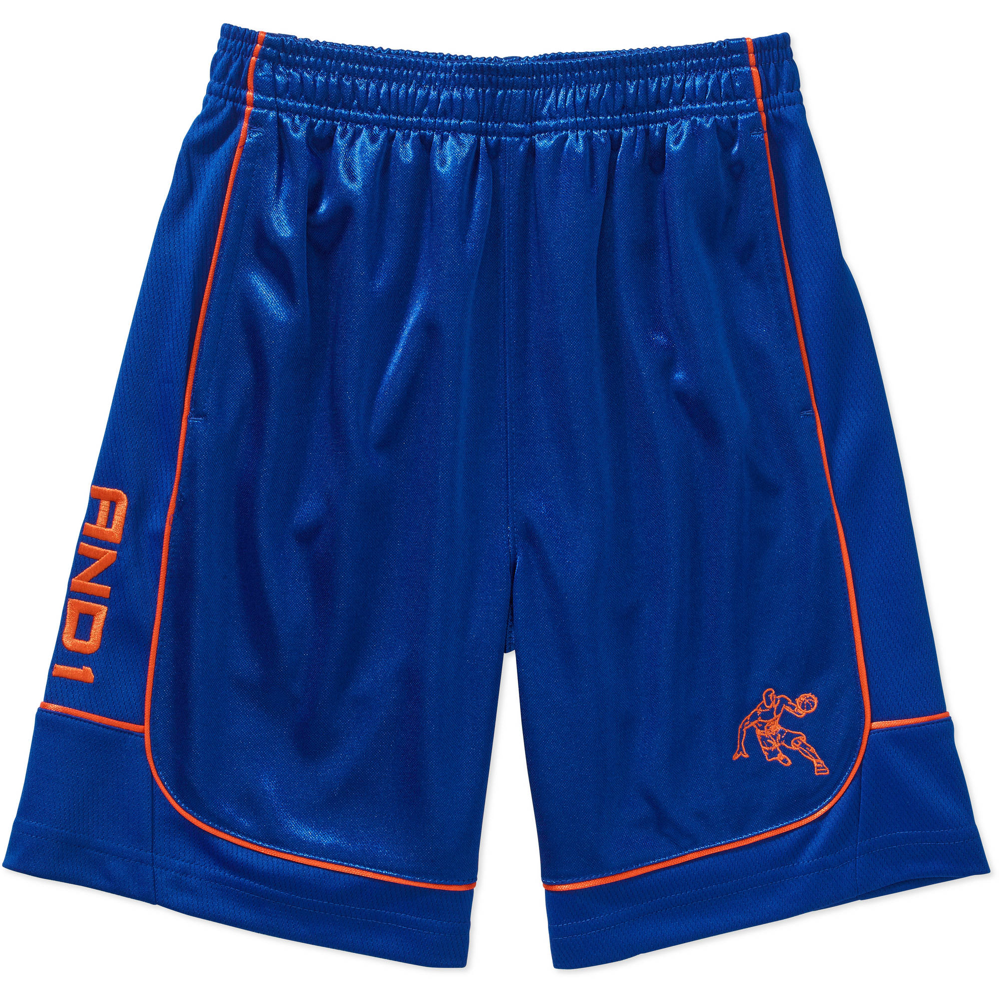 "AND1 Boys' ""All Court"" Basketball Short with Pop Piping"