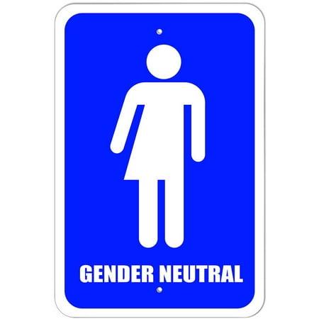 Gender Neutral Bathroom All Gender Transgender Transexual Restroom Sign