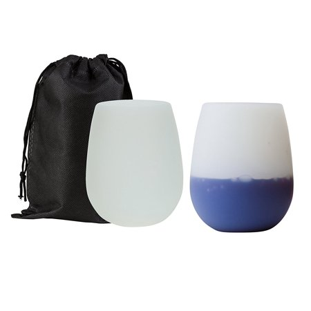 Wealers Multi-colored Stemless Silicone Wine Cup or Beer Glasses | Unbreakable & Dishwasher Safe with Handy Carry Bag - Great for Outdoors, While Camping, At Home & More](Beer Glasses Bulk)