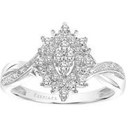 "1/4ctw Certified Genuine Diamond 10KT White Gold Ladies ""Jazz"" Marquise ring by Keepsake"