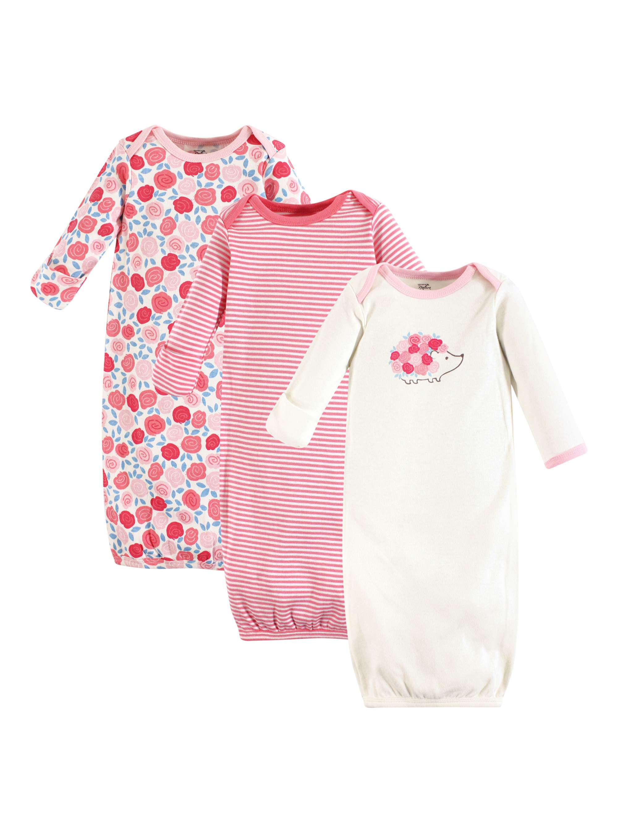 Organic Gowns 3pk (Baby Boys and Baby Girls)