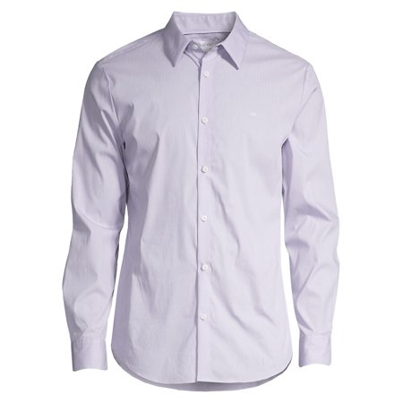 Slim-Fit Stretch Cotton Button-Down Shirt 2 Button T-shirt