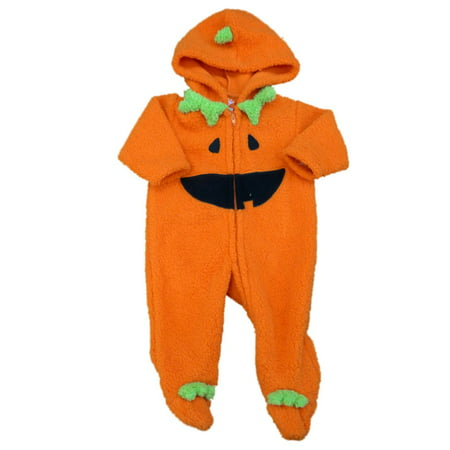 Happy Halloween Infant Boys Fleece Jack-O-Lantern Sleep & Play Pajama Sleeper - Games Baby Hazel Happy Halloween