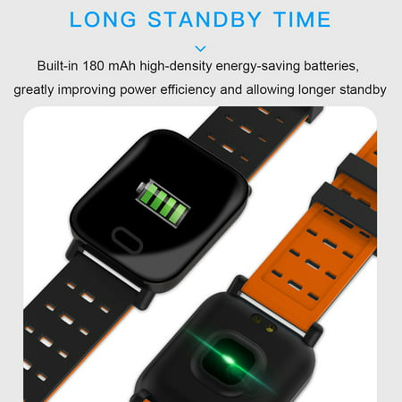 Smart Watch Fitness Tracker Smart Wristband with Heart Rate Monitor Blood Pressure Activity Fitness Watch for Women Men - image 4 of 11