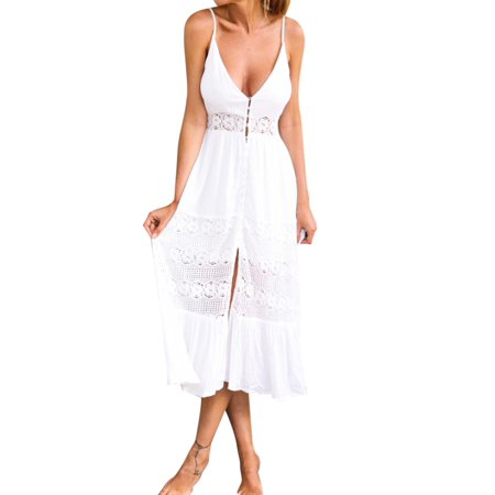 Dress For Cats (Phoebe cat Summer Beach Long Maxi Dress for Women, Sexy Deep V Hot Strappy Dresses for Women, P2900WS Womens Summer Boho Dresses Cocktail Party)