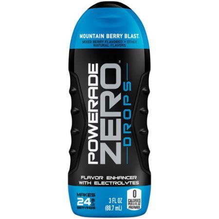 POWERADE ZERO DROPS Flavor Enhancer, Mountain Berry Blast, 3 fl oz