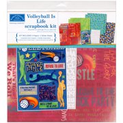 "Karen Foster Scrapbook Page Kit 12""X12""-Volleyball Is Life"