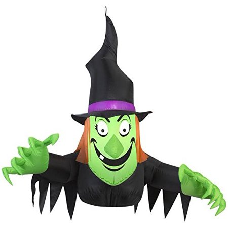 Halloween Sale (3.5' Airblown Window Witch Creeper Halloween)