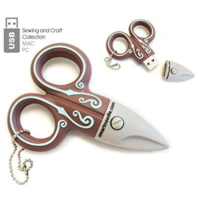 Smartneedle USB4GPCFE USB 4 Gb Embroidery Scissors Coffee Art and Craft Product