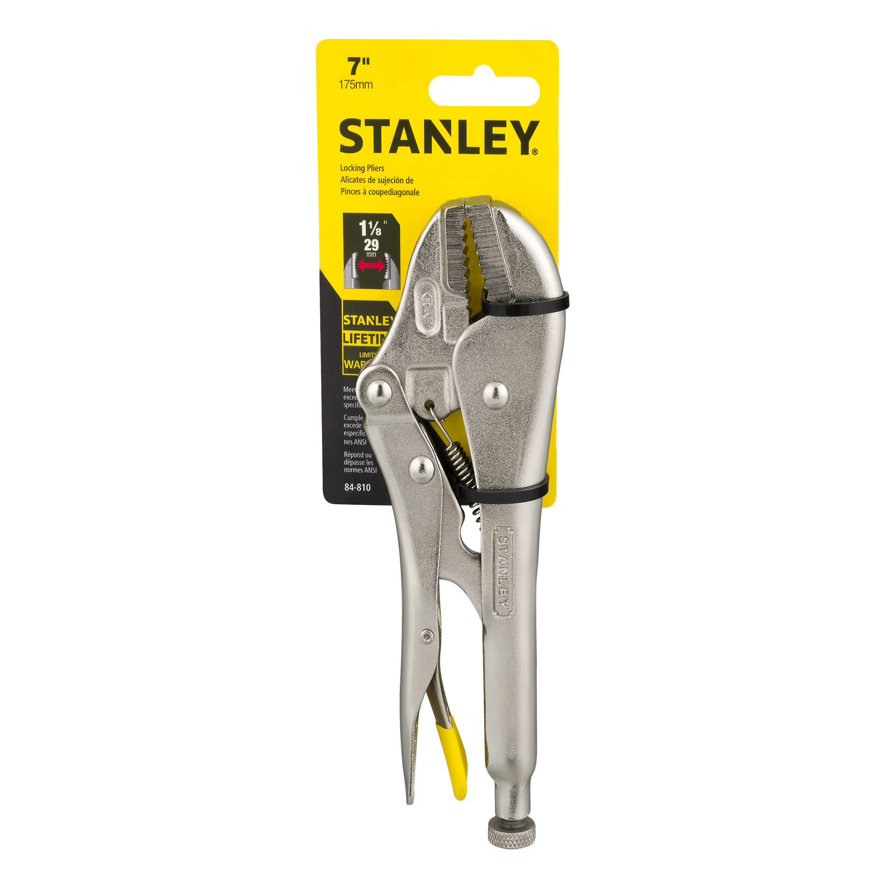 STANLEY 84-810 7.5-Inch MaxSteel Straight Jaw Locking Pliers