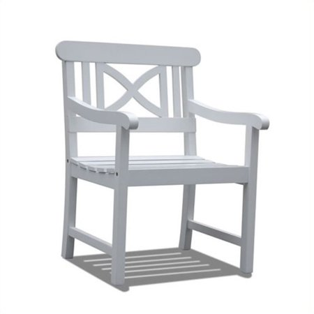 Curve Back Outdoor Wood - Bradley Outdoor Wood Arm Chair