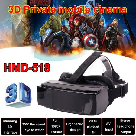 HMD-518 1080P Virtual Reality 3D Video Glasses Eyewear Smart 3D Mobile Theater