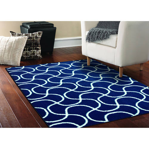 Mainstays Drizzle Area Rug, Black White by Garland Carpet & Rug
