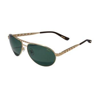Chopard Polarized Satin Gold Titanium Aviator Sunglasses