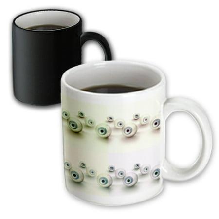 3dRose Eyeballs - Spooky Art - Halloween Fun, Magic Transforming Mug, 11oz - Halloween Eyeball Glasses