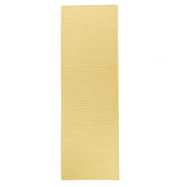 Colonial Mills Rug RT34R028X096S 2 ft. 4 in. x 8 ft. Reversible Flat-Braid Rectangle Runner  Yellow - image 1 of 1