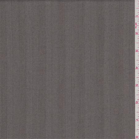 Mocha Brown Twill Stripe Suiting, Fabric Sold By the Yard