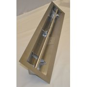 HPC 48 Inch Stainless Steel Firepit Trough Burner - Natural Gas Model