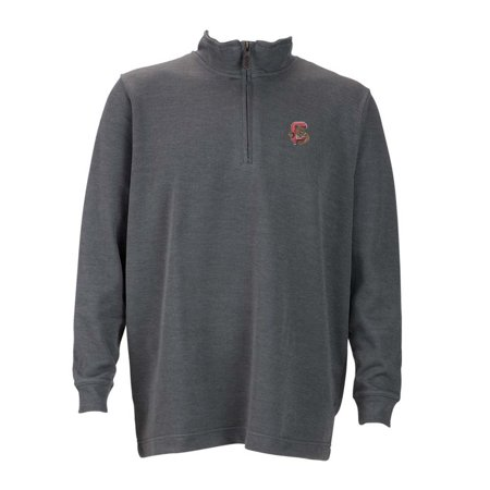 Cornell Mens 1 4 Zip Flat Back Rib Pullover  Color  Grey