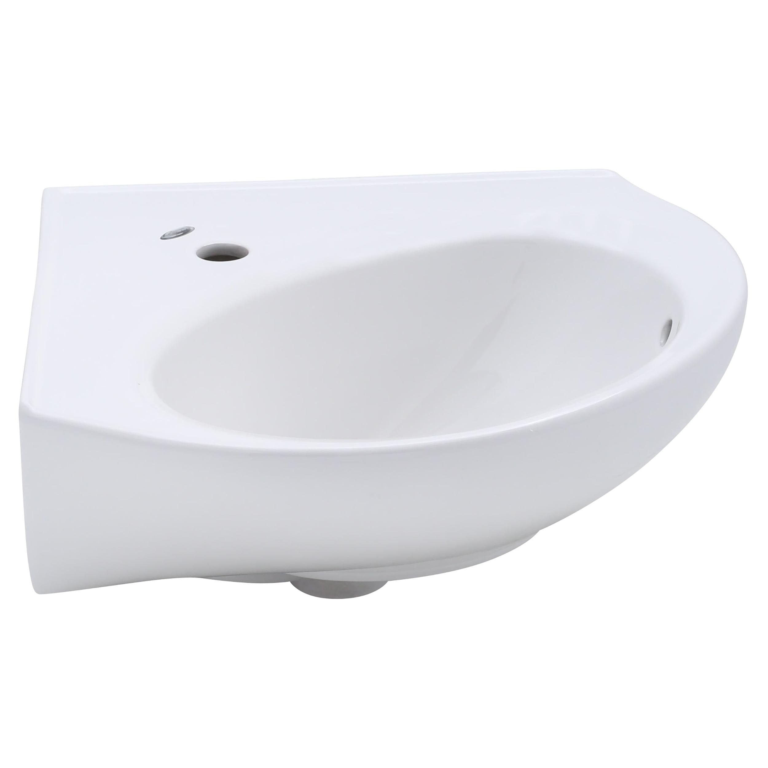 American Standard Cornice Corner Pedestal Sink Top With Single Hole In White Walmart Com Walmart Com