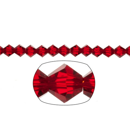 Bicone Crystal Beads Siam Faceted xilion Crystal For Jewelry Making mm 54Cnt (Facetted Bicone)