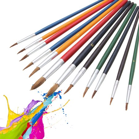 On Clearance 12x Artist / Crafts Paint Brush Set Wool Watercolor Acrylic Oil Painting / Drawing Supplies Tool