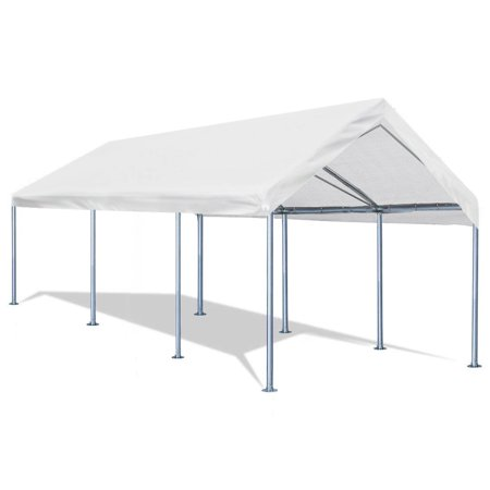 Quictent 10'x20' Carport Heavy Duty Car Canopy Galvanized Car Boat Shelter with 4 Reinforced Steel Cables