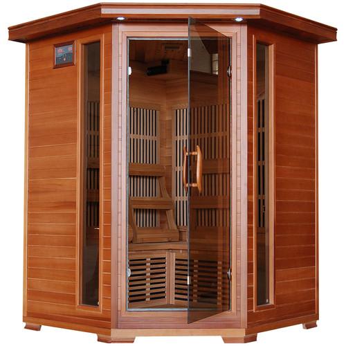 Radiant Saunas 3 Person Corner Carbon FAR Infrared Sauna