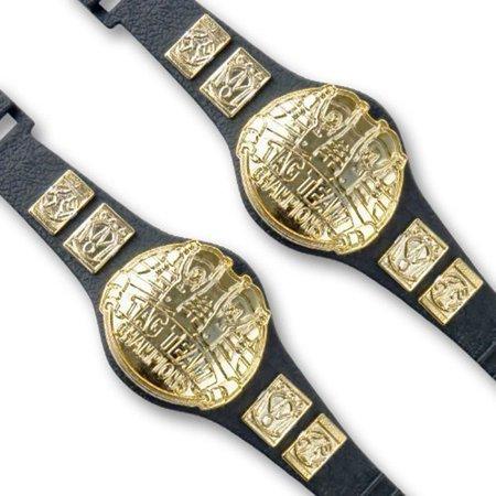 Set of 2 Tag Team Championship Belts for WWE Wrestling Action