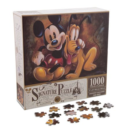 disney parks mickey & pluto 85th anniversary puzzle 1000 pcs new with box Disney Mickey Mouse Jigsaw Puzzles
