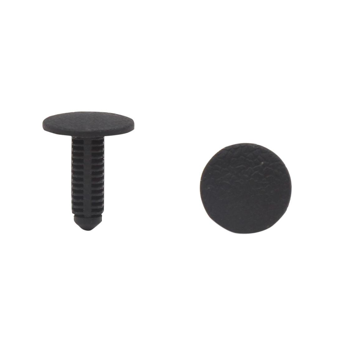 50Pcs Black Car Plastic Rivets Door Bumper Fastener Clip 6 x 7mm for Toyota - image 2 de 2