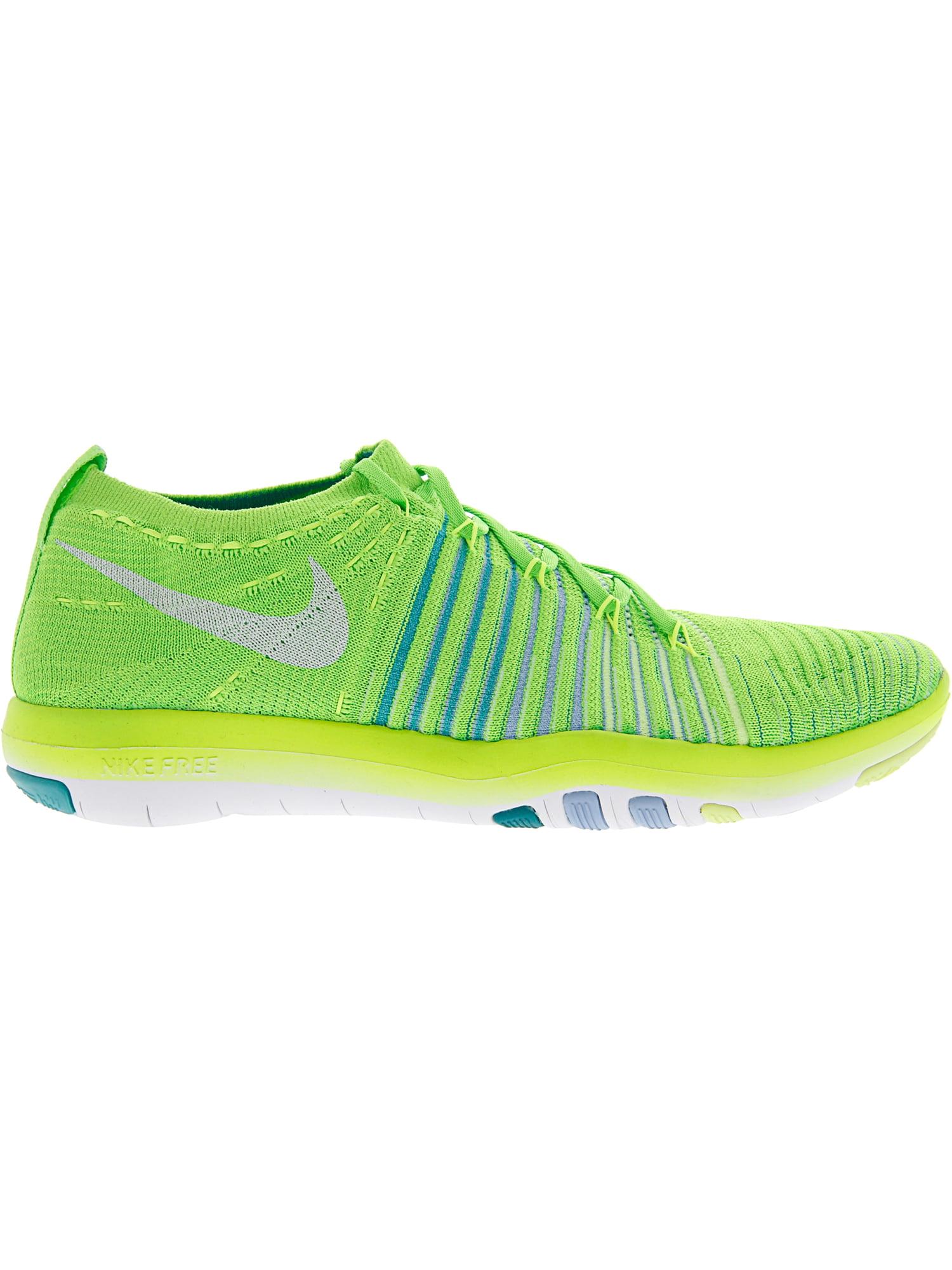 f78ffef3e3b3 Nike Women s Free Transform Flyknit Electric Green   White - Hyper Jade  Bluecap Ankle-High Fabric Training Shoes 9.5M
