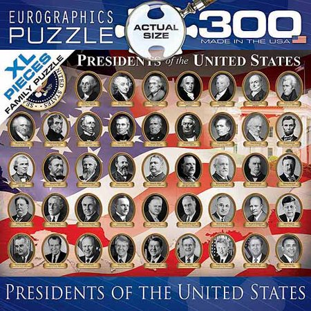 EuroGraphics US Presidents 300-Piece Puzzle, Small Box