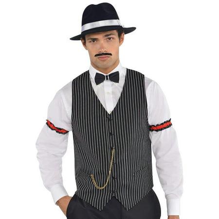 Gangster Vest Roaring 20's Costume Accessory, Adult Standard (Male Roaring 20's Costume)