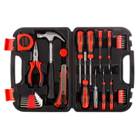 33 Piece Tool Kit with Carrying Case-Heat Treated Steel Essential Basic Repair Handtool Set for DIY, Apartments, Dorms, and Homeowners by Stalwart (Dorm Tool Kit)